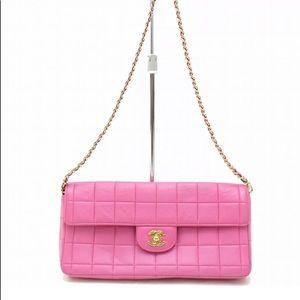 💯Authentic ❤️Chanel Lambskin Leather Shoulder Bag